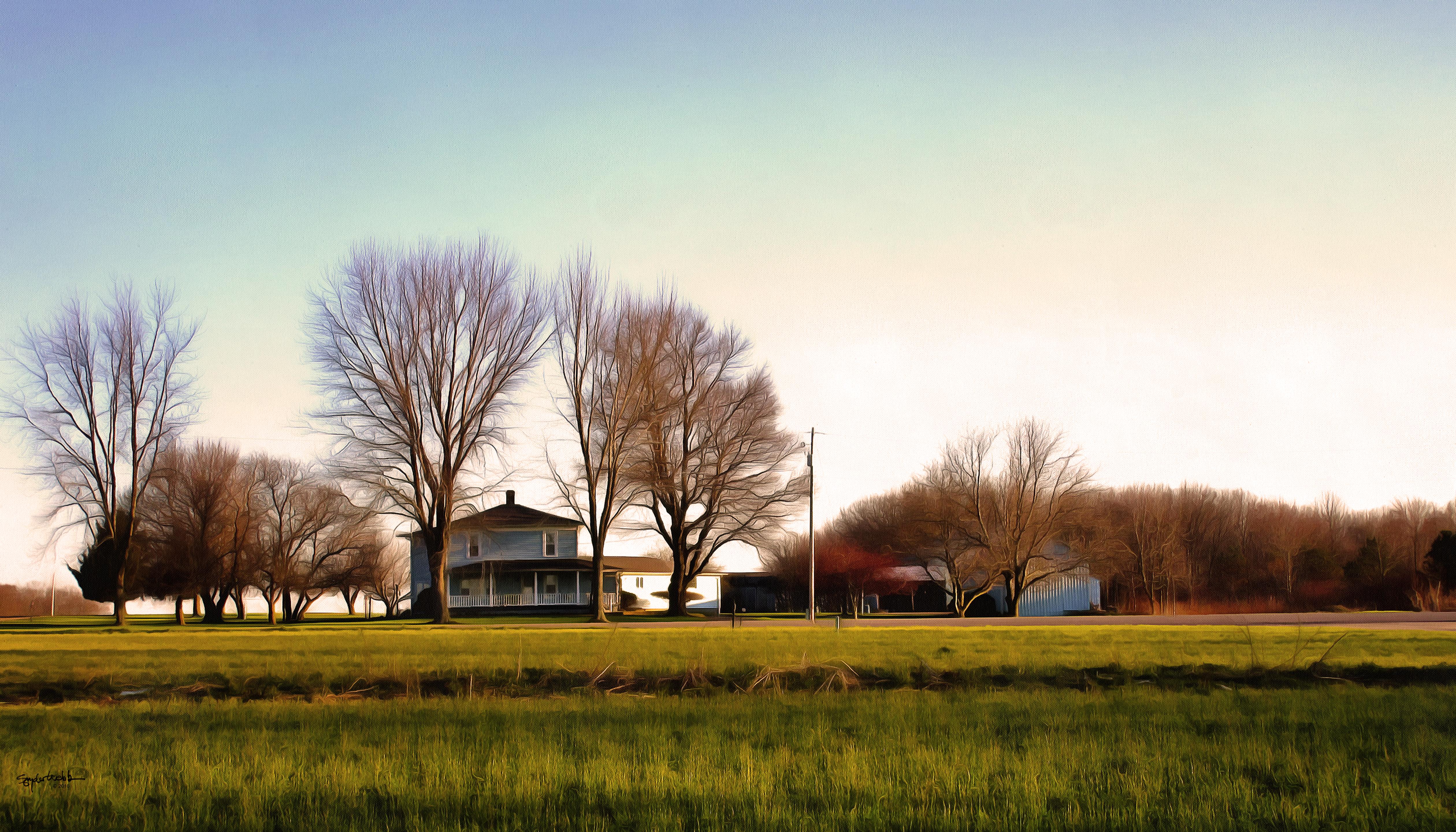 Blue Farmhouse FAA